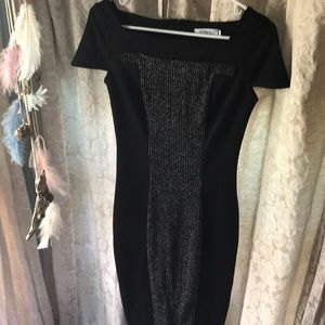 Dresses & Skirts - Black and silver cap sleeve dress